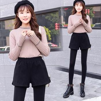 劳保拉韩版百搭加厚短裤靴裤