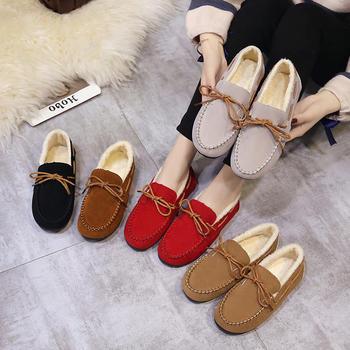 秋冬季保暖豆豆鞋女士棉鞋加绒鞋