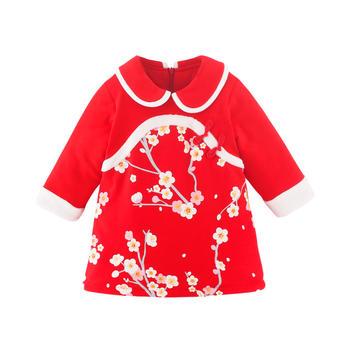宝然女宝宝唐装连衣裙婴儿旗袍