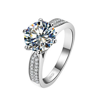 卡洛美 s925银戒指女镶施华洛锆