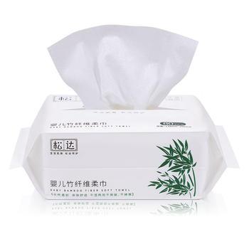 松达婴儿竹纤维柔巾1包 80抽 天然柔软