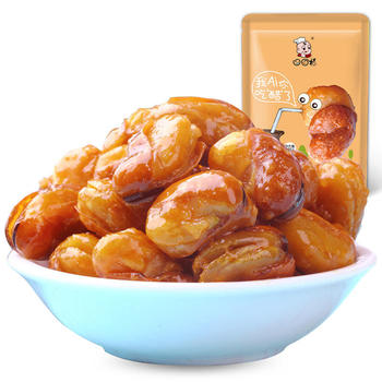 口口福醋味兰花豆205g 休闲零食炒货 醋味香酥蚕豆