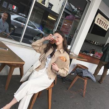 金蘑菇菇 工装裤阔腿裤九分长裤