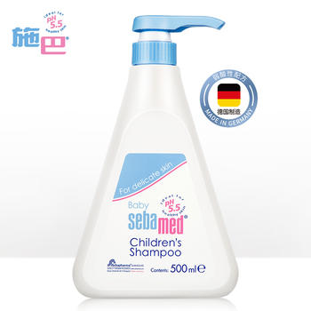 施巴无硅油温和儿童洗发水500ml