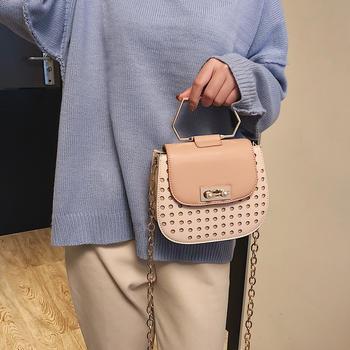 雅涵新款手提女包单肩链条小猪包
