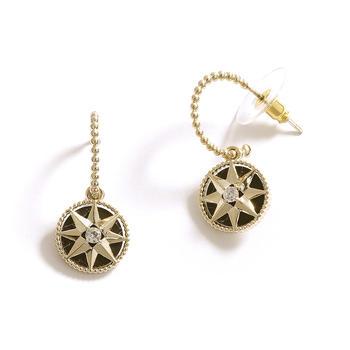 CROCUS时尚百搭创意星星复古气质个性甜美耳钉女52635