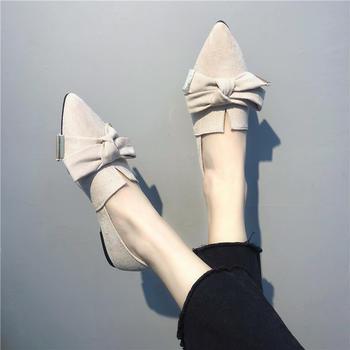 慕沫韩版春秋单鞋女尖?#33778;?#24213;女鞋