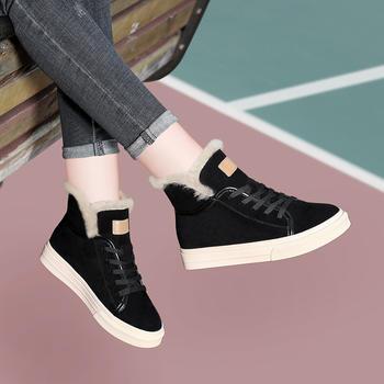 新款平底雪地靴女士冬季短靴韩版