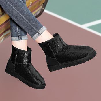雪地靴女冬反季皮毛一体短筒棉鞋