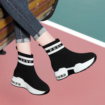 冬季新款韩版百搭运动高帮鞋子