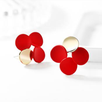 戴拉  925银针几何时尚气质耳环