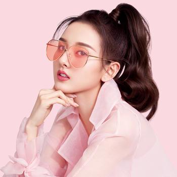 帕森宋祖儿明星同款太阳镜女潮人时尚大框眼镜新品