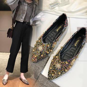慕沫女鞋2019新款单鞋春?#37202;?#24213;鞋