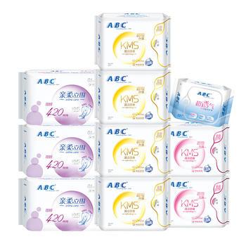 ABC超吸纤薄棉柔日夜用+护垫