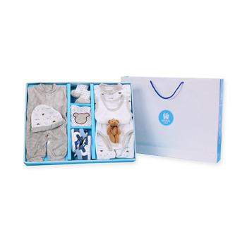 意嬰堡新生兒服飾九件套大禮盒裝,送禮自用兩相宜