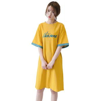 蚕坊俪 韩版时尚休闲刺绣大码T恤 产后穿着 依旧美丽