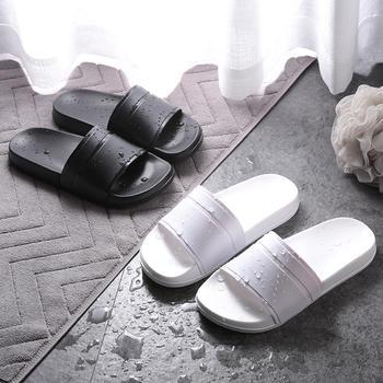 乐拖 夏季日式EVA黑白情侣时尚款居家拖鞋