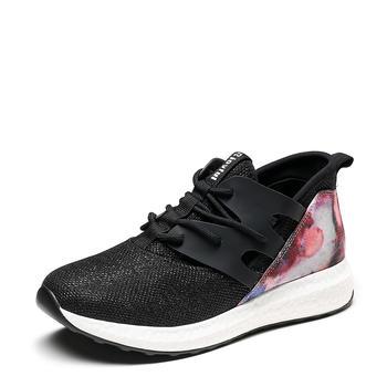 卓诗尼春季女单鞋拼色低跟平底运动休闲鞋时尚舒适