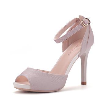珂卡芙珂卡芙夏季鱼嘴鞋简约性感防水台细高跟女凉鞋