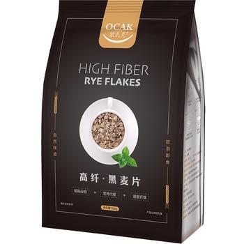 欧扎克高纤黑麦片600g/袋冲饮粗粮代餐燕麦