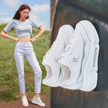 ZHR-新款内增高小白鞋厚底鞋女网鞋透气网面运动鞋