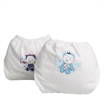 意嬰堡 3條裝全棉透氣尿布褲 柔軟舒適
