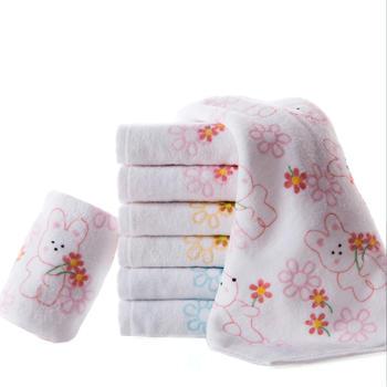 3条装金号纯棉割绒女士洗脸小毛巾美容巾儿童毛巾