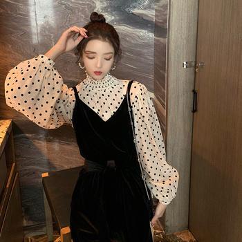 CHINSTUDIO雪梨钱夫人 小众波点衬衫 设计感韩范