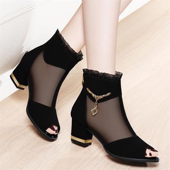女鞋鱼嘴凉鞋时尚春季新款高跟鞋