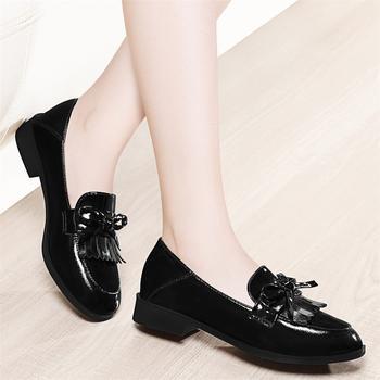 新款韩版百搭流苏英伦风平底单鞋