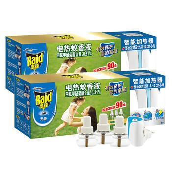 雷达蚊香液 无香型 30晚6瓶+2加热器 灭蚊套装