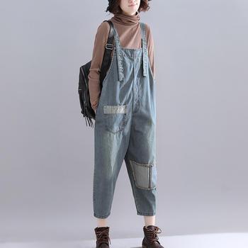 劳保拉新款韩版宽松原宿bf显瘦森女系牛仔裤