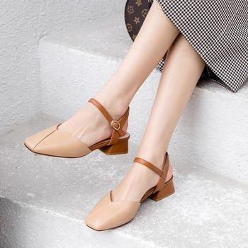 慕沫夏季凉鞋学生一字扣带仙女鞋?#25351;?#21253;头罗马鞋女