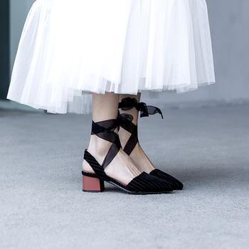 慕沫凉鞋女新款夏季学生?#30475;?#20185;女鞋包头罗马鞋?#25351;?#38795;
