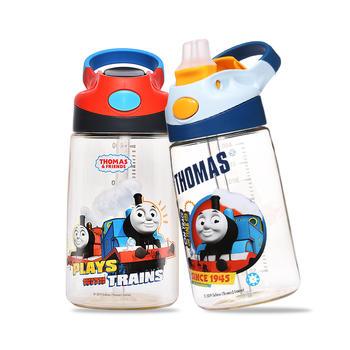 托马斯儿童鸭嘴运动弹盖ppsu吸管杯宝宝幼儿水壶400ml