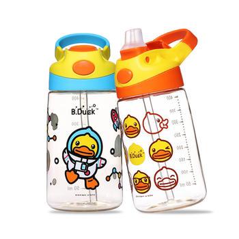 小黄鸭儿童鸭嘴弹盖ppsu吸管杯 宝宝幼儿水壶400ml