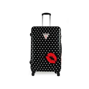 GUESS 女士性感红唇行李箱旅行拉杆箱万向轮硬箱28寸