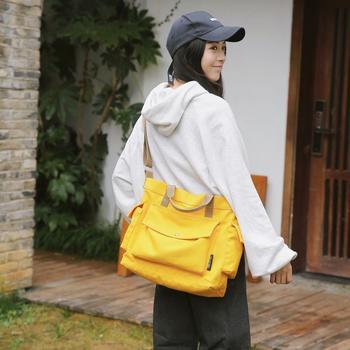 萨兰丹迪斜跨多兜情侣帆布包小清新大容量手提包
