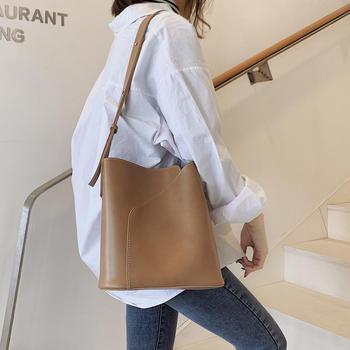 雅涵欧美时尚简约女包单肩休闲子母包百搭托特大包包