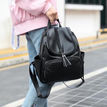 Reiwalker 2019新款韩版百搭潮背软皮休闲时尚旅行大容包