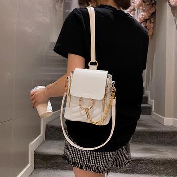 雅诗罗时尚欧美新款双肩包女潮流百搭休闲小背包