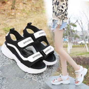 安欣娅热销夏季新款厚底舒适女鞋运动凉鞋