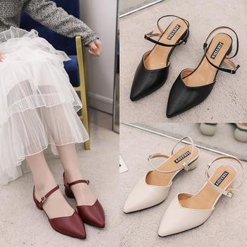 佑黛夏季新款凉鞋包头中空?#25351;?#38795;甜美仙女鞋罗马鞋女