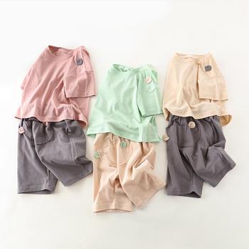 舒贝怡 儿童短袖两件套夏洋气潮服