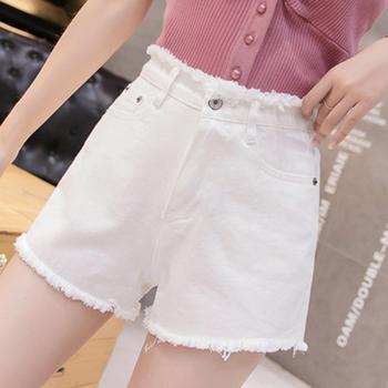 牛仔裤吻你一生夏季新款牛仔短裤女韩版时尚宽松