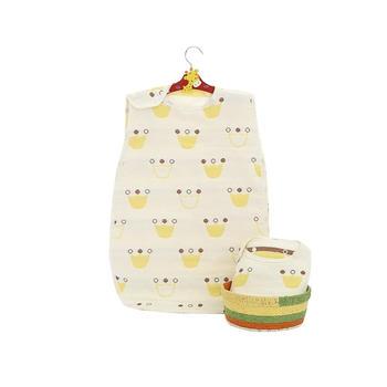 意嬰堡六層紗布卡通嬰兒無袖睡袋   輕薄透氣