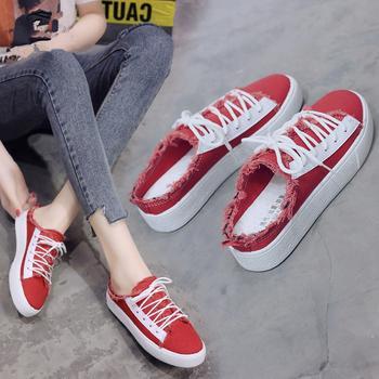 安欣娅韩版学院风半拖式休闲舒适女鞋