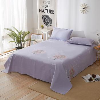 欧朵思家纺 纯棉 棉布床单 单双人床1.2/1.5/2.0/2.3米床