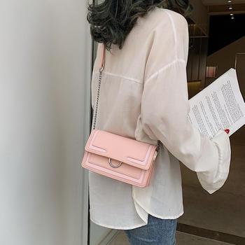 雅涵欧美时尚圆环女包单肩斜挎包百搭小方包