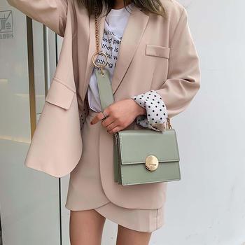 雅涵韩版新款时尚锁扣女包单肩包包小方包斜挎链条包